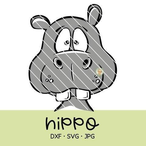 Cutting file hippo - multicolored cute plot file