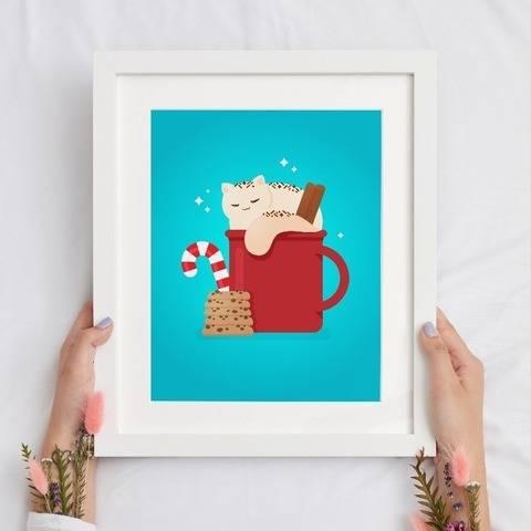 Katze Crema - Poster und Ausmalbilder A4 zum Ausdrucken