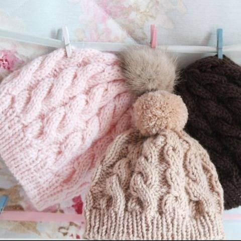18 inch Doll Cable Hat Knitting Pattern