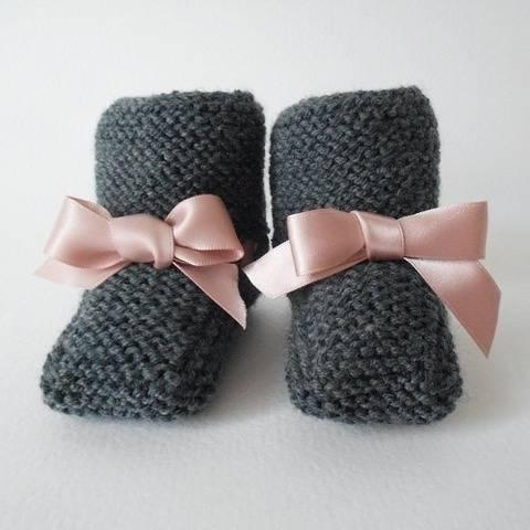Chaussons avec lien - Tutoriel tricot