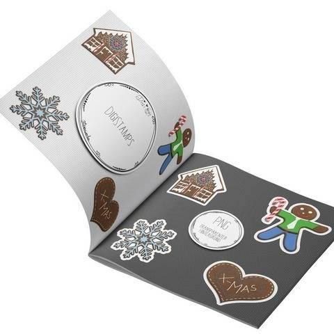 DigiStamps Lebkuchen Figuren 1 - Mann Haus Schneeflocke Herz bei Makerist