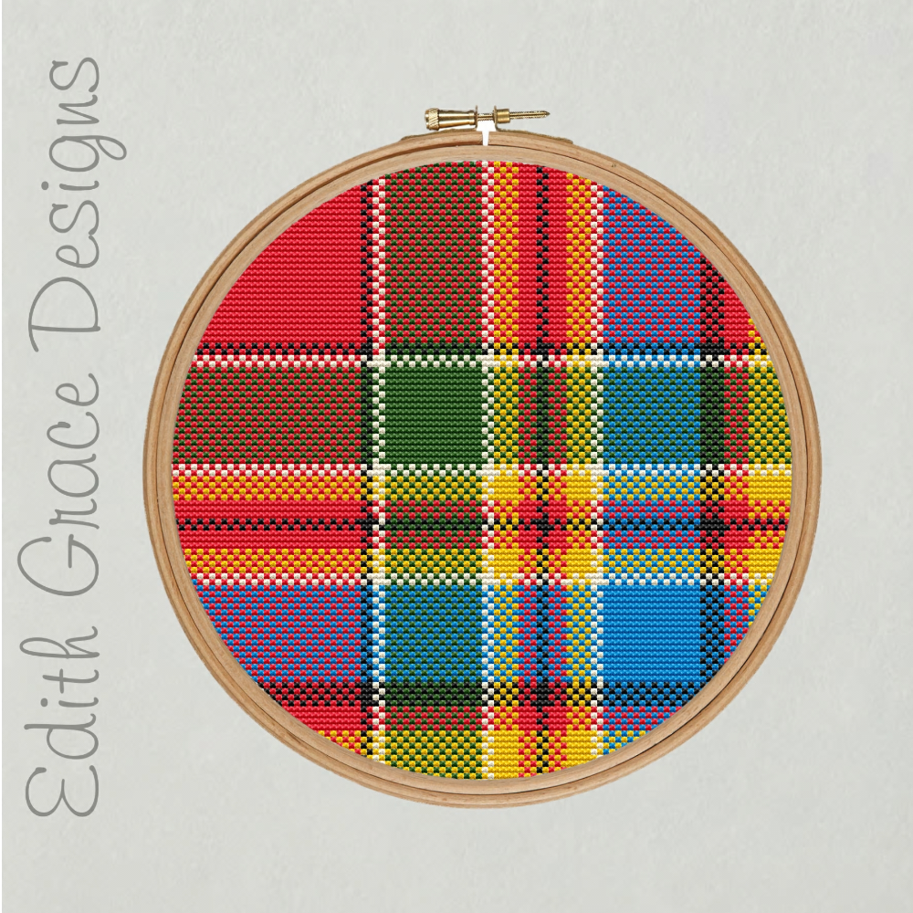 Chattan Tartan Point de Croix