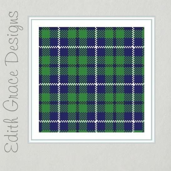 Douglas Tartan Cross Stitch Pattern at Makerist - Image 1