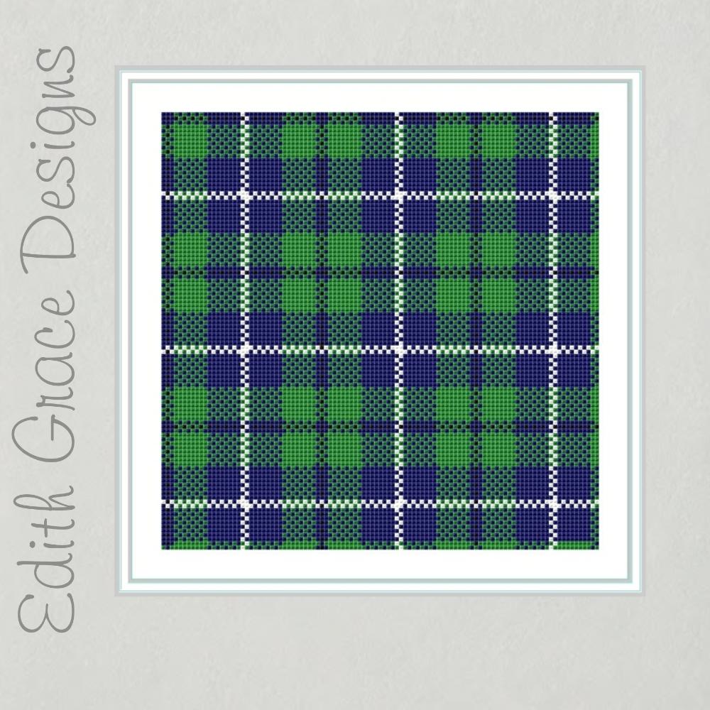 Douglas Tartan Cross Stitch Pattern