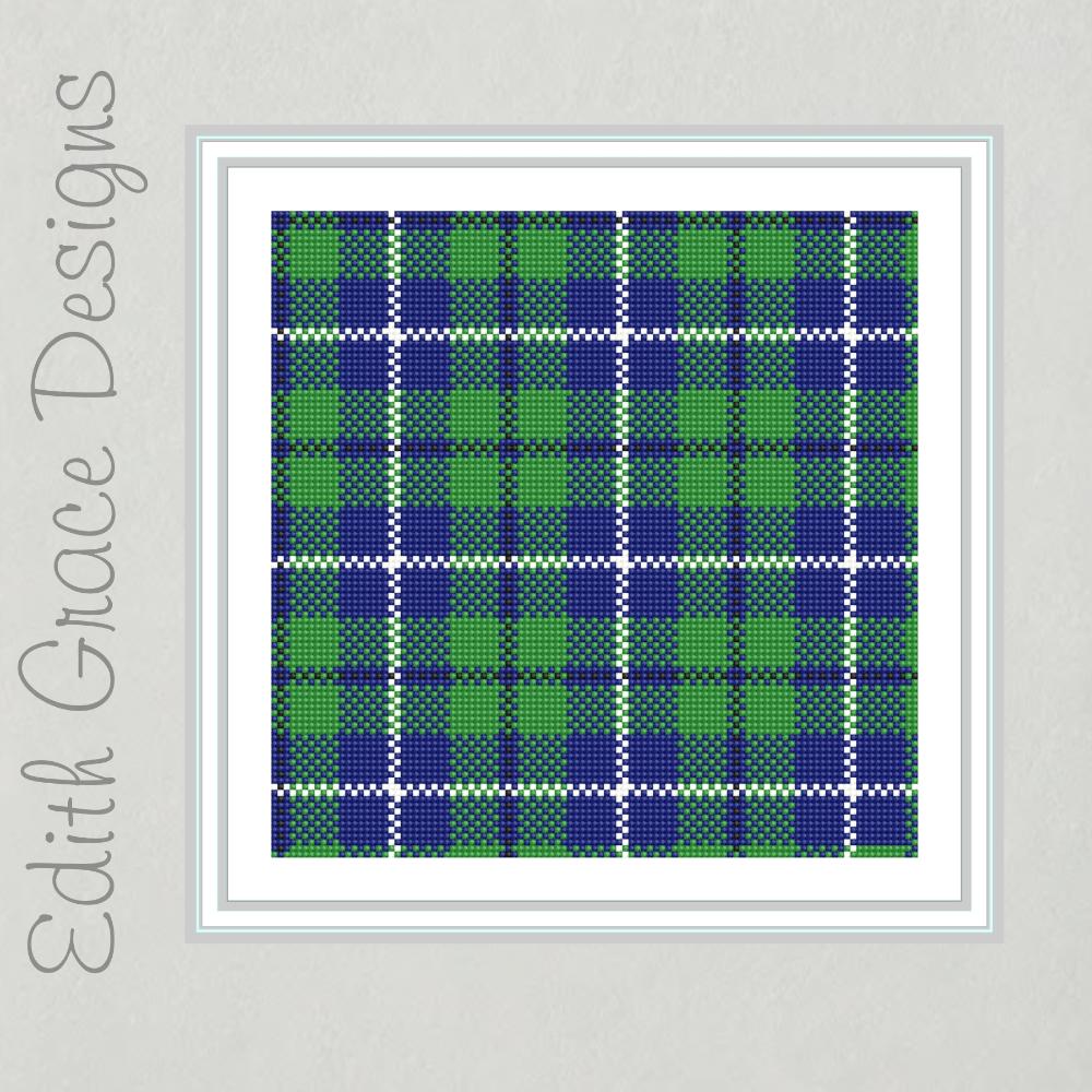 Douglas Tartan Needlepoint Pattern