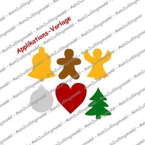 Main(e) Weihnachts-Silhouetten Teil 1 - Applikationsvorlage bei Makerist