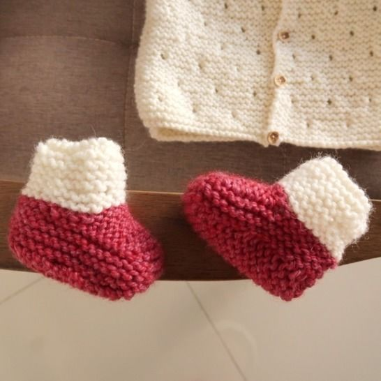 Baby Booties Knitting Pattern - knitting for baby PDF at Makerist - Image 1