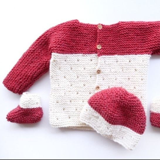 Baby Knitting Pattern Set: Hat, booties, sweater & blanket at Makerist - Image 1