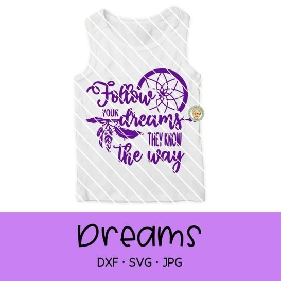 "Fichier de découpe plotter ""Follow your dream"" chez Makerist - Image 1"
