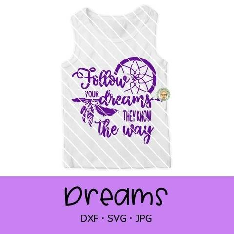 "Fichier de découpe plotter ""Follow your dream"""