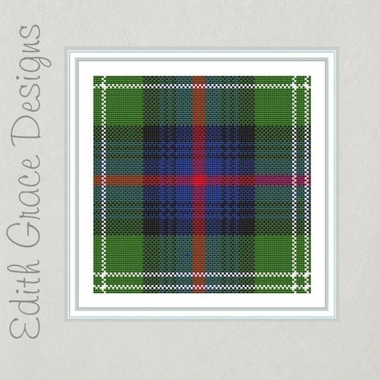 Sutherland Tartan Cross Stitch Pattern at Makerist - Image 1