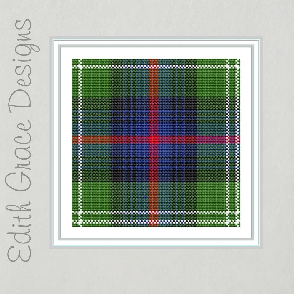 Sutherland Tartan Cross Stitch Pattern