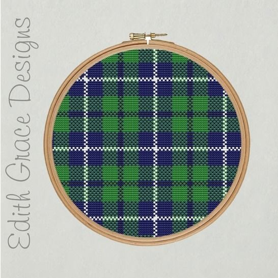 Douglas Tartan Embroidery Pattern at Makerist - Image 1
