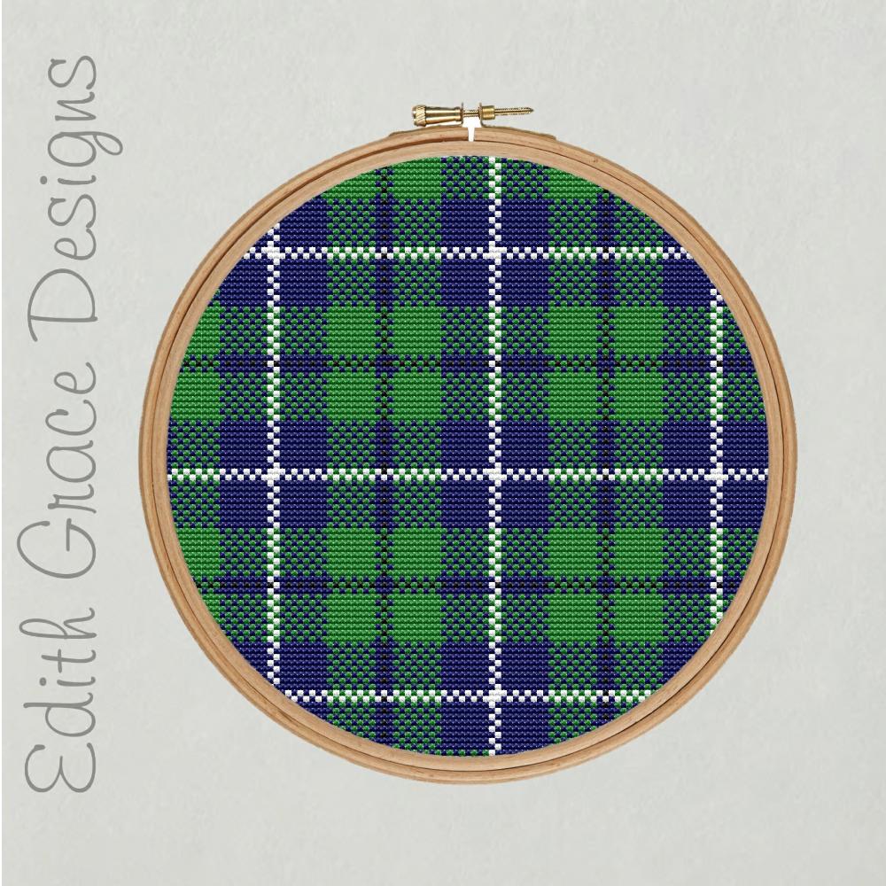 Douglas Tartan Embroidery Pattern