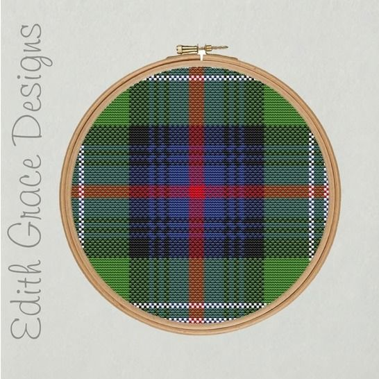 Sutherland Tartan Embroidery Pattern at Makerist - Image 1