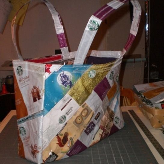 Handbag Purse Tote from Recycled Coffee Bags at Makerist - Image 1