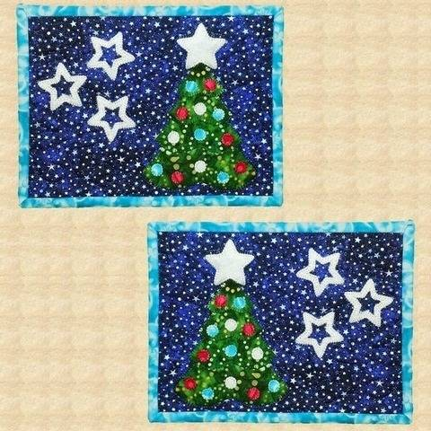 O Christmas Tree Quilted Mug Rugs Pattern