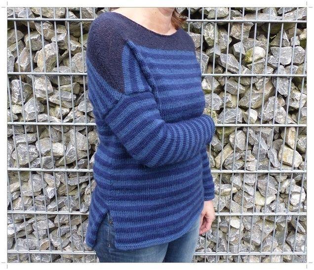 Streifen-Pullover, Strickanleitung Größe S - L     bei Makerist - Bild 1