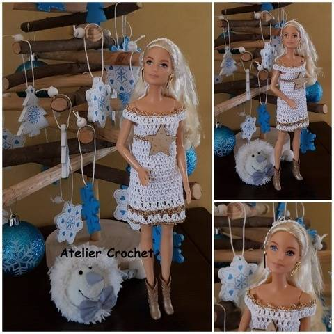 """Golden Christmas"" Crochet Pattern for Barbie at Makerist"