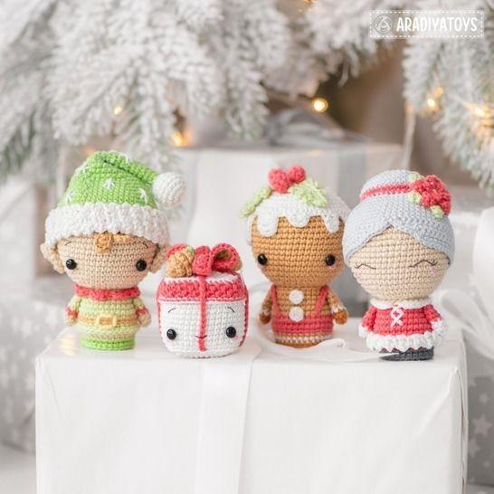 Crochet pattern of Christmas Minis set 2 by AradiyaToys at Makerist - Image 1