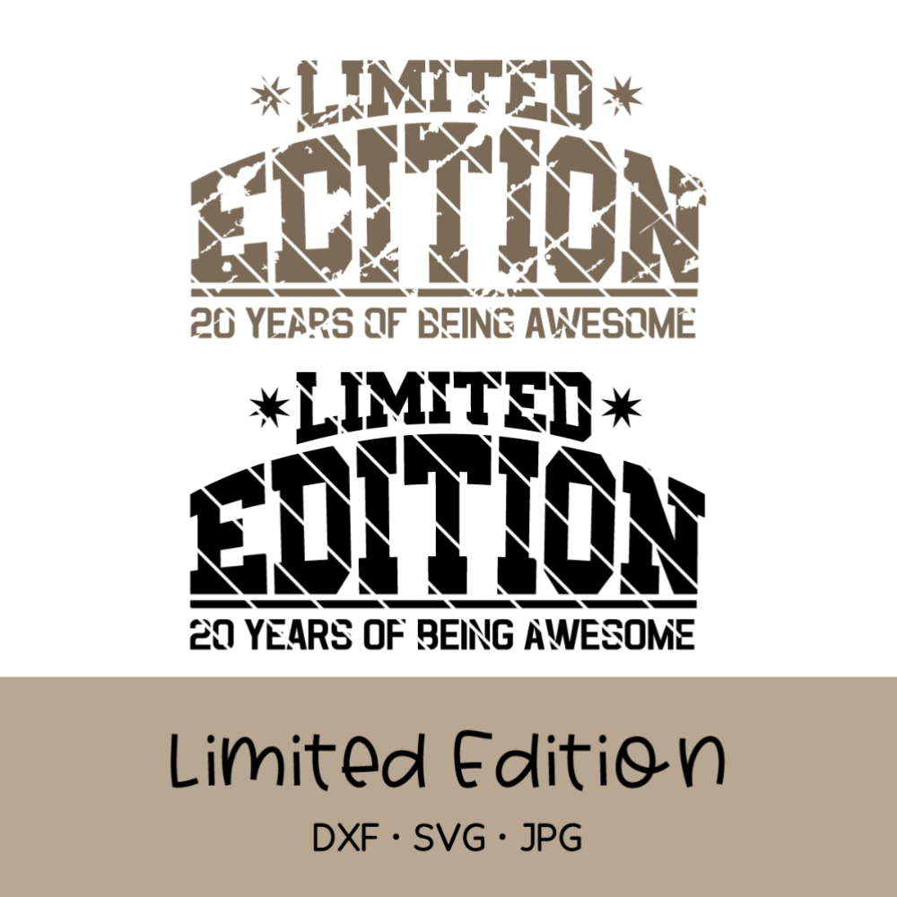 Cutting file limited edition, used look, e.g. for birthday