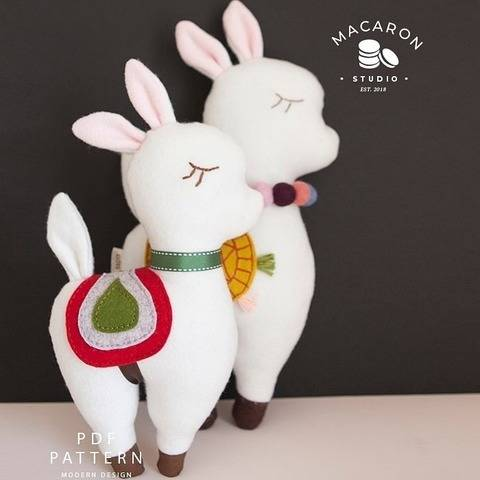 Llama Plush Dolls PDF Pattern (#2728) at Makerist