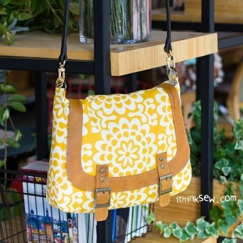 Monica Messenger bag PDF Pattern (#876)