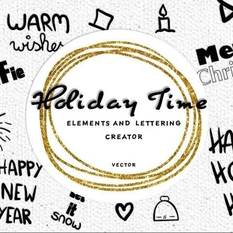Holiday Time Elements & Schriftzug mit kommerzieller Nutzung bei Makerist