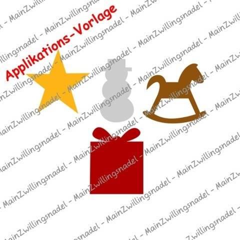 Main(e) Weihnachts-Silhouetten Teil 2 - Applikationsvorlage bei Makerist