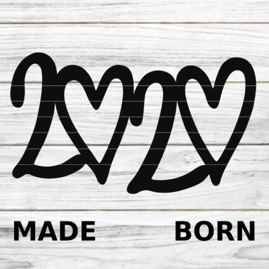 "Plotterdatei ""MADE BORN 2020"" SVG DXF bei Makerist - Bild 1"