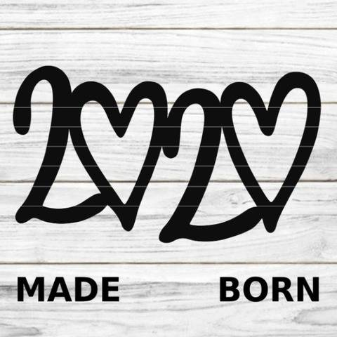 "Plotterdatei ""MADE BORN 2020"" SVG  bei Makerist"