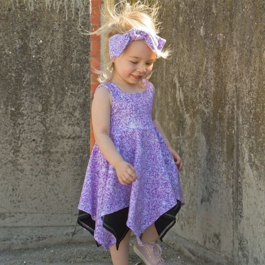 """Wilder Top & Dress"" KIDS Sewing Pattern and E-Book Tutorial at Makerist - Image 1"