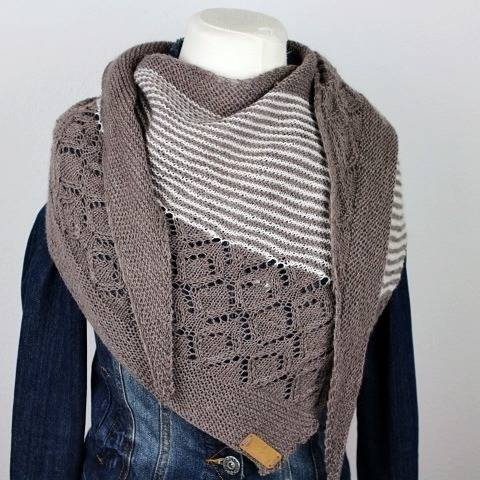 "Knitting pattern shawl ""Neina"" at Makerist"