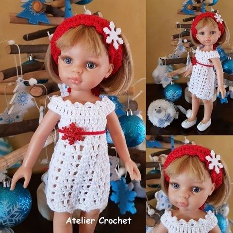 """Red and White"""" crochet pattern for Paola Reina  at Makerist"