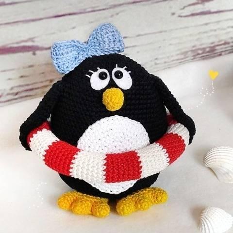 "Häkelanleitung ""Fräulein Rieke"" Pinguin, Amigurumi"