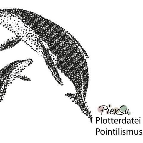 Plotterdatei - Pointillismus Wale - dxf svg jpg png PiexSu