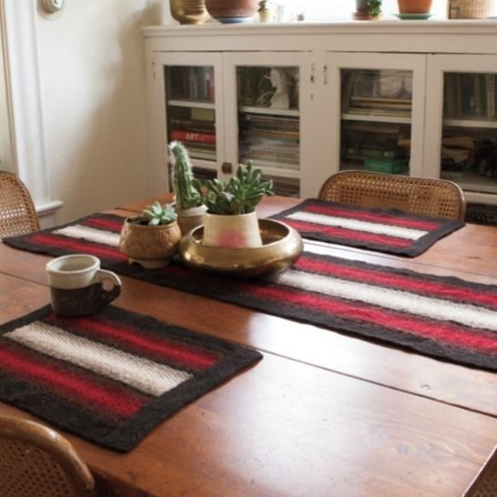 Shadow Weave Placemat and Runner - hand knitting pattern at Makerist - Image 1