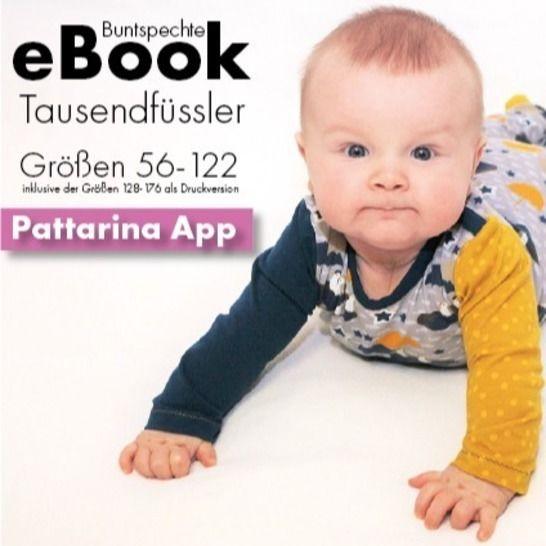 """Pattarina Code & Ebook """"Tausendfüssler"""" 56-122 128-176 bei Makerist - Bild 1"""