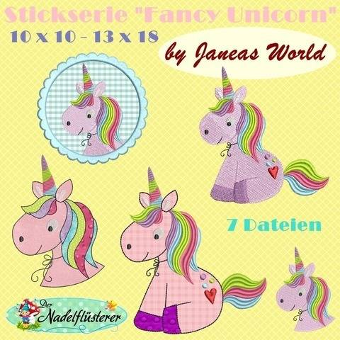 Digitale Stickserie JW Fancy Unicorn 10x10 - 13x18