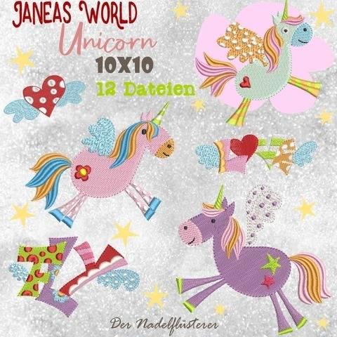 Digitale Stickserie JW Unicorn 10x10 bei Makerist