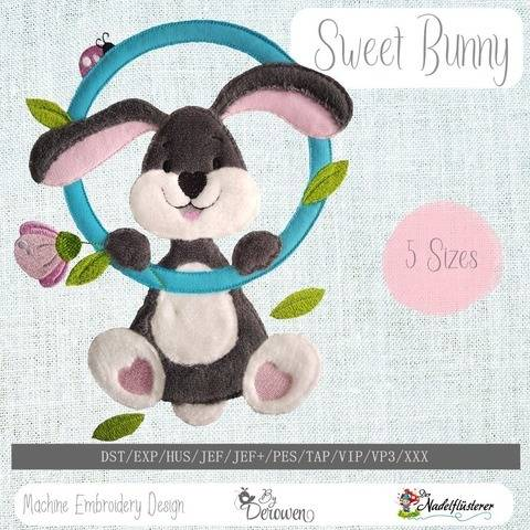 Digitale Stickdatei Sweet Bunny 10x10 - 20x30