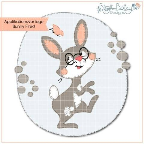 Birgit Boley Designs • Applikationsvorlage Bunny Fred