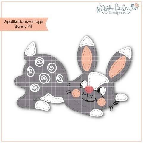 Birgit Boley Designs • Applikationsvorlage Bunny Pit