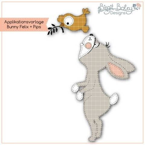 Birgit Boley Designs • Applikationsv. Bunny FelixundPips