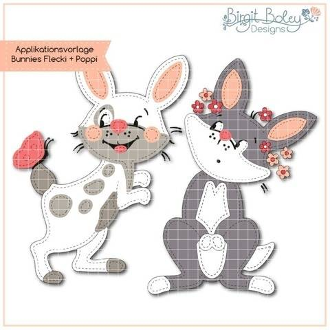 Birgit Boley Designs • Appliv. Bunnies FleckiundPoppy