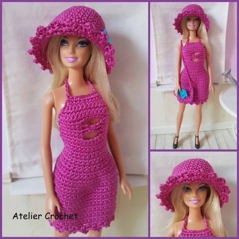 """Bertille"" Crochet Pattern for Barbie"