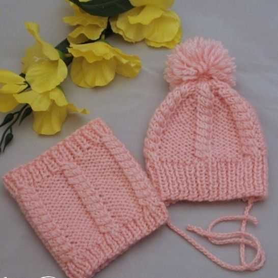 Baby doll hat and scarf knitting pattern at Makerist - Image 1