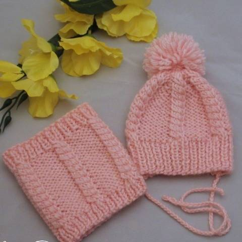 Baby doll hat and scarf knitting pattern at Makerist