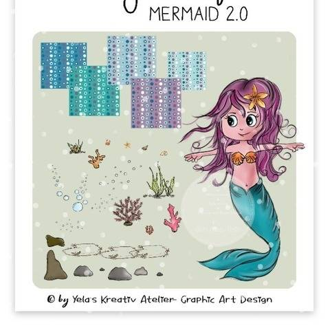 "Digistamp Yela`s Kreativ Atelier "" Mermaid 2.0 """