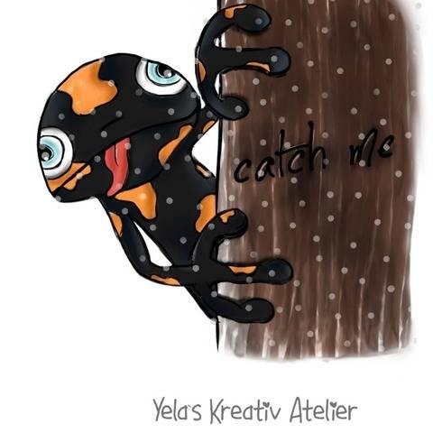 "Plotterdatei Yela`s Kreativ Atelier "" Sam der Salamander  """
